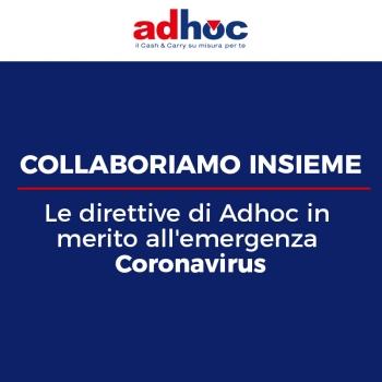 Notizie dal blog: Le direttive di Adhoc in merito all'emergenza Coronavirus