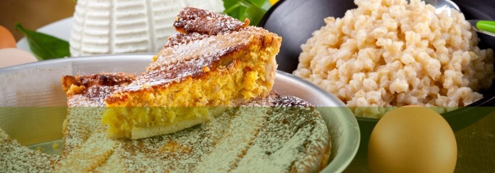 Lapastiera, dolce tipico della pasticceria napoletana.