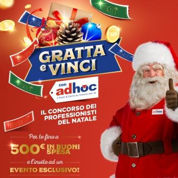 """Notizie dal news: Partecipa al concorso di Natale """"Gratta e vinci con Adhoc"""""""