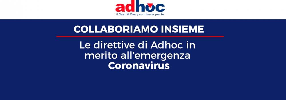 Le direttive di Adhoc in merito all'emergenza Coronavirus