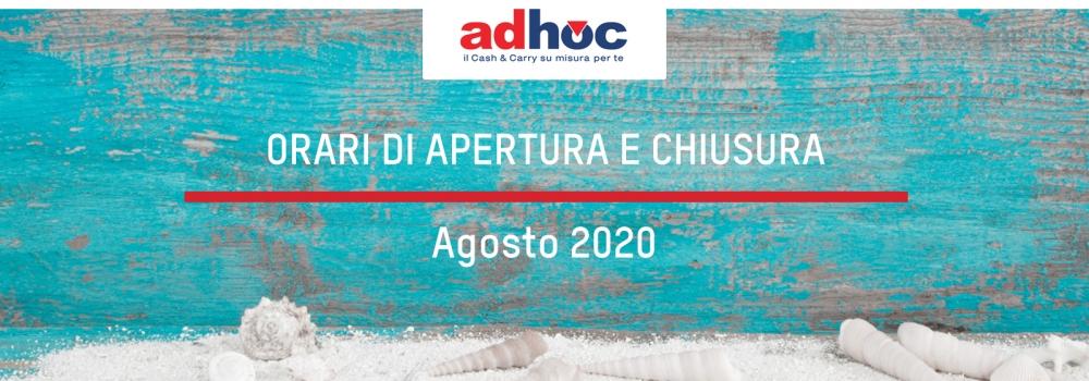 Orari di apertura agosto 2020