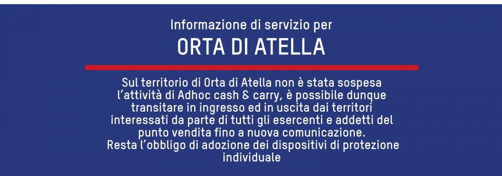Informazione di servizio - accesso Zona Rossa Orta di Atella