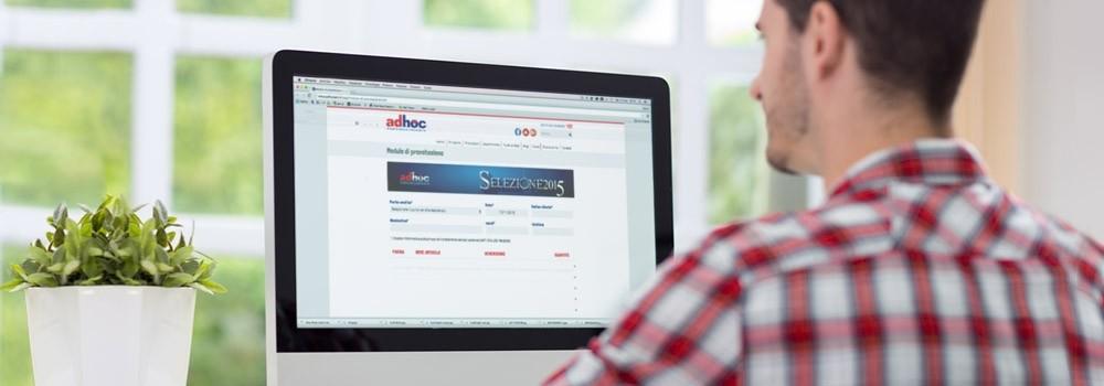 È online il modulo di prenotazione Adhoc