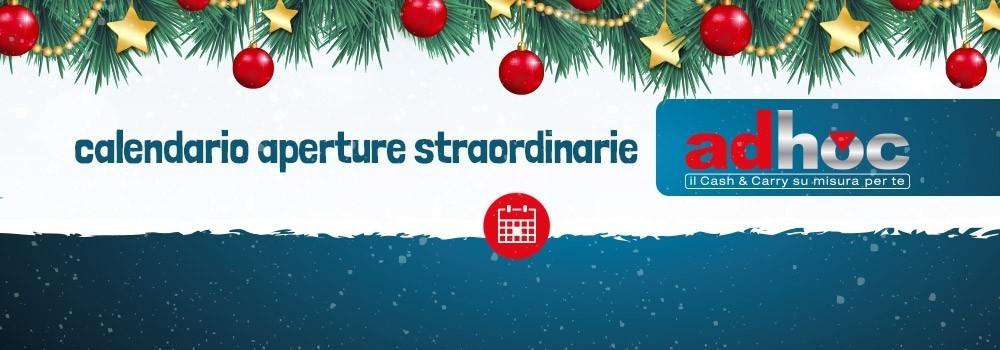 Calendario aperture straordinarie Adhoc