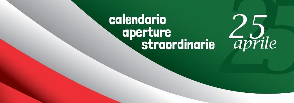 25 Aprile - Calendario aperture straordinarie Adhoc