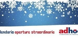 Calendario aperture straordinarie Adhoc 2017-2018