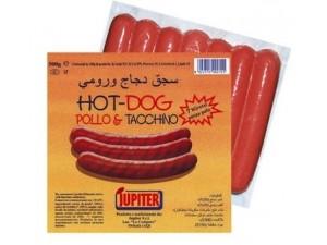 Jupiter wurstel hot dog pollo e tacchino gr 500