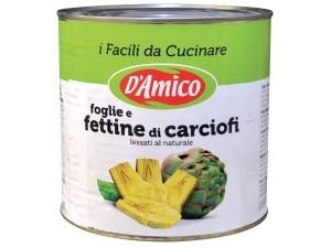 D'amico  foglie e fettina di carciofi al naturale kg 2,50
