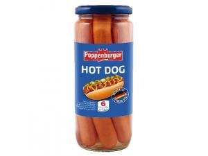 Poppenburger würstel per hot dog gr 550