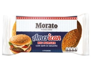 Morato  american big burger con semi di sesamo  gr 300