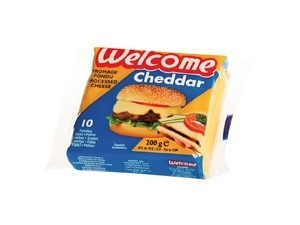 Welcome cheddar 10 fette di formaggio fuso gr 200