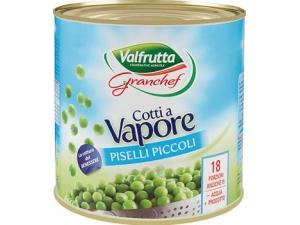 VALFRUTTA  GRANCHEF PISELLI PICCOLI COTTI A VAPORE KG 3