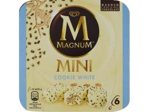 Magnum mini • COOKIE GR 264 pz 6 • DARK GR 264 pz 6 • CLASSICO GR 352 pz 8  • bianco gr 352 pz 8 • pistacchio gr 352 pz 8 • double gr 300 pz 6