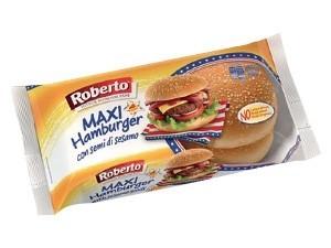 Roberto  maxi hamburger con semi di sesamo  4 panini gr 300