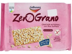 Galbusera  zero grano cracker integrali con riso soffiato gr 360