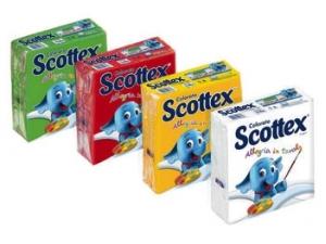 Scottex  tovaglioli colorati  due veli cm 33 x 33 pz 33