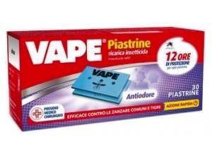 Vape piastrine anti zanzare  • antiodore pz 30 • classiche pz 30 • profumate pz 30  • verde essential pz 20
