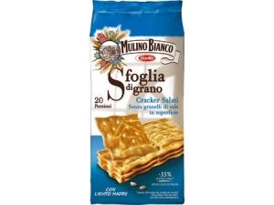 Mulino bianco cracker sfoglia di grano • salati • ridotto contenuto di sale gr 500