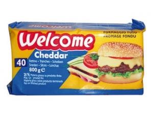 Welcome  40 fettine   di formaggio cheddar gr 800
