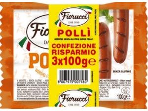 Fiorucci pollì wurstel con pollo e tacchino  multipack gr 100 x 3