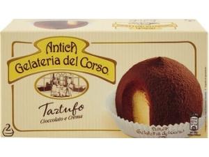 Antica gelateria del corso tartufo • cioccolato e crema • panna e caffè  gr 80 x 2