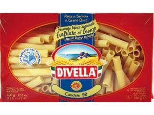 Divella  pasta di semola formati speciali  • millerighi • fusilloni • lumaconi • paccheri napoletani • conchiglioni • calamari • candele vaschetta gr 500