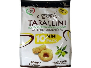 La spiga  taralli all'olio di oliva  multipack 10 pz gr 400