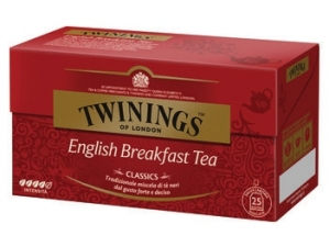 Twining's tea 25 filtri • english breakfast • lemon scented • earl grey • agrumance • pure green • prince of wales
