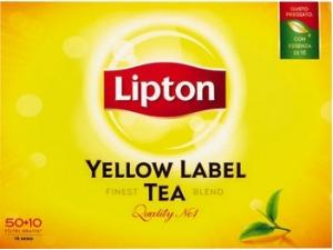 Lipton yellow label tea 50+10 filtri
