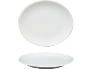 Saturnia piatto ovale siviglia bianco cm 28