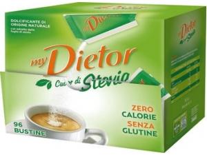 My dietor cuor di stevia 96 bustine dispenser