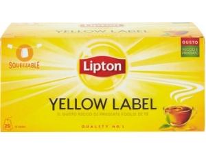 Lipton yellow  label tea squeezable  25 filtri