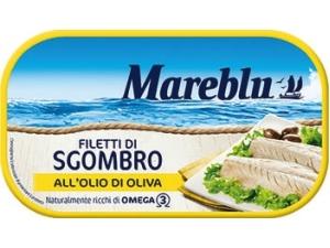 Mareblu filetti di sgombro • al naturale • all'olio di oliva • affumicati • piccanti gr 90
