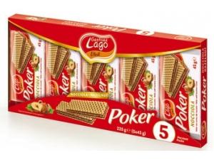 Gastone lago elledì  wafer poker  • cacao • nocciola gr 45 x 5