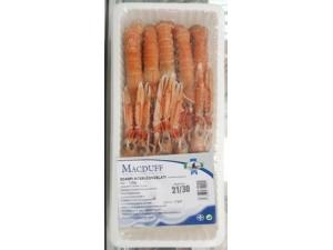 Macduff  scampi interi 21/30 glassatura 20% confezione kg 1 (peso netto gr 800)