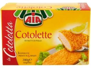 Aia 3 cotolette di filetto di pollo gr 280