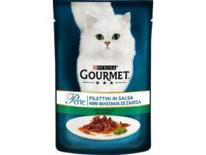 Gourmet perle  filettini in salsa per gatto  vari gusti - in busta gr 85