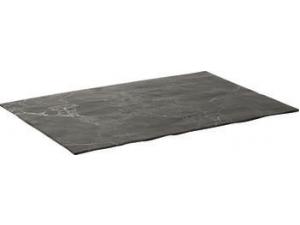 Table top vassoio rettangolare royal black in melamina cm 35 x 28,5 x 0,9