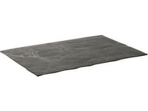 Table top vassoio rettangolare royal black in melamina cm 43 x 28,5 x 0,9