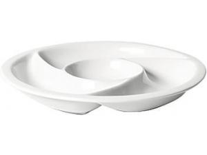 Table top vassoio porcellana 4 scomparti  cm 30,5x3,5