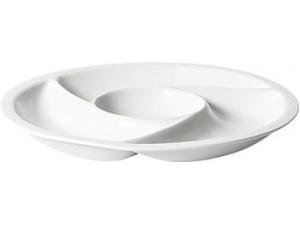 Table top vassoio porcellana 4 scomparti  cm 24,5x3,5