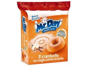 Mr. day  - ciambelle • classica gr 304 • cioccolato gr 288  - muffin • classico • cacao • integrale e frutti rossi gr 252