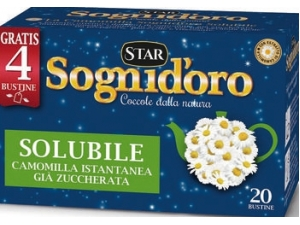 Sogni d'oro  camomilla solubile  (16 bustine + 4 gratis)  20 bustine