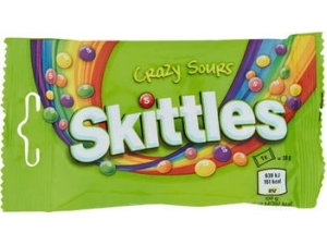 SKITTLES CARAMELLE • CLASSICO fruits • crazy SOURS GR 38