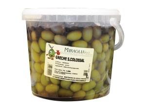 Miraglia  olive verdi  greche super colossal kg 3,5