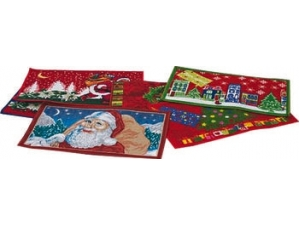 Tappeto gommato con decori natalizi modelli assortiti 40x70 cm