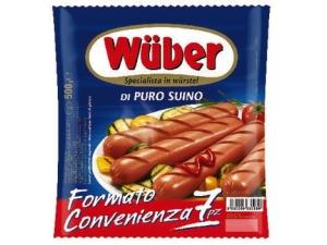Wuber  7 wurstel di puro suino  gr 500