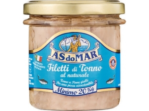 As do mar  filetti di tonno  in vetro - gr 150 • all'olio di oliva • CUORE DI TONNO all'olio di oliva • NATURALE • grigliato