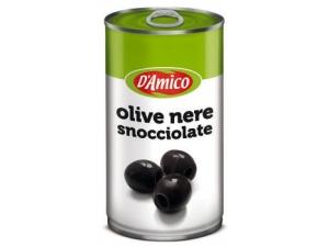 D'amico olive • nere snocciolate in latta gr 350 • verdi snocciolate in vetro gr 290