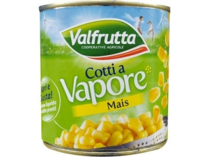 Valfrutta  mais cotti a vapore  in lattina gr 326
